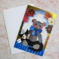 【ロジーナ・ワハトマイスター】猫のグリーティング・カード(ブランク・カード)