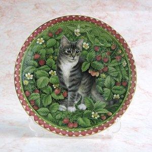 画像1: 【レズリー・アン・アイボリー】仔猫の絵皿 Meet My Kittens (July): Vintage