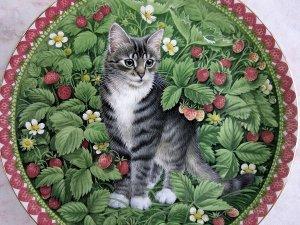 画像3: 【レズリー・アン・アイボリー】仔猫の絵皿 Meet My Kittens (July): Vintage