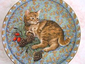 画像3: 【レズリー・アン・アイボリー】仔猫の絵皿 Meet My Kittens (January): Vintage