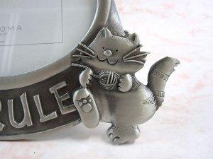 画像2: 猫のフォト・フレーム(pewter18)