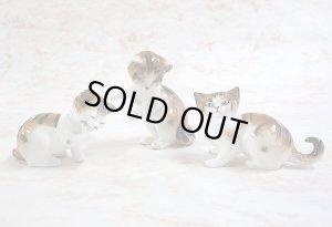 画像1: 【ロイヤル・ドルトン】仔猫の置き物3体セット:ヴィンテージ