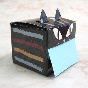 画像3: 猫型のキューブ付箋 ブラッック