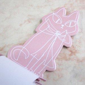 画像3: 猫型のダイカット・メモ ピンク