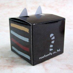 画像2: 猫型のキューブ付箋 ブラッック