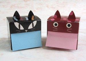 画像4: 猫型のキューブ付箋 ブラッック