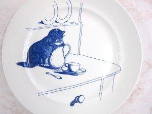 画像2: 【ナショナル・トラスト】猫の絵皿 Kingstone Lacy 5: Vintage