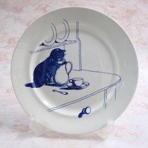 画像1: 【ナショナル・トラスト】猫の絵皿 Kingstone Lacy 5: Vintage