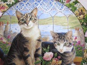 画像3: 【レズリー・アン・アイボリー】猫の絵皿 Harry and Sheena in the Summer Window : Vintage