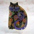 【ローレル・バーチ】猫型の絵皿 Feline Fantasy : Vintage