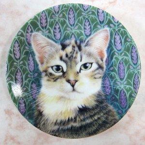 画像2: 【レズリー・アン・アイボリー】猫のミニ絵皿 Sheena : Vintage