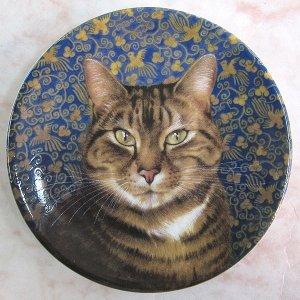画像2: 【レズリー・アン・アイボリー】猫のミニ絵皿 Octopussy : Vintage