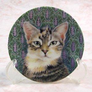 画像1: 【レズリー・アン・アイボリー】猫のミニ絵皿 Sheena : Vintage