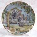 【デビー・クック】猫の絵皿 Window Basket: Vintage