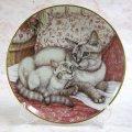 【デビー・クック】猫の絵皿 I Spy : Vintage