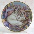 【デビー・クック】猫の絵皿 Mother's Love : Vintage