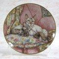 【デビー・クック】猫の絵皿 Welcome Home : Vintage