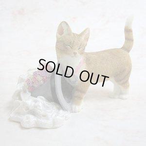 画像1: 【シェラット&シンプソン】猫の置き物 S&S Kitten with Veil & Hat