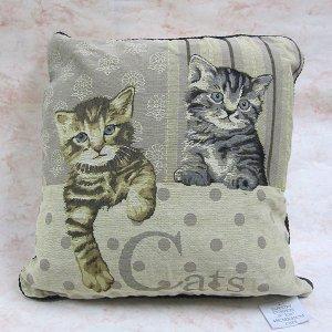 画像1: 猫のゴブラン・クッションカバー(Cat)