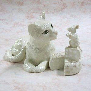 画像1: 【レノックス】猫の置き物 Making Friends