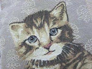 画像4: 猫のゴブラン・クッションカバー(Cat)