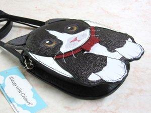 画像2: 【Sleepyville Critters】猫のクロスボディ・バッグ(タキシード猫)