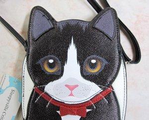 画像4: 【Sleepyville Critters】猫のクロスボディ・バッグ(タキシード猫)