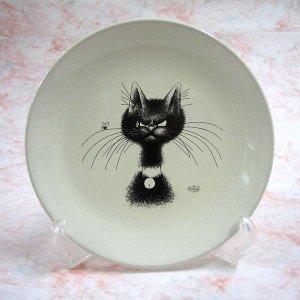 画像1: 【アルベール・デュブー】猫のティー・プレート(Whisker)